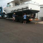Garys Spanner Crab Boat from Lawries Marina to his farm near Cooyar