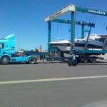 George's Mustang being uplifted at Largs Bay SA